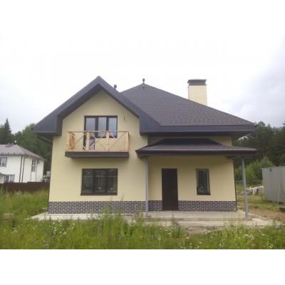 Коттедж №8- штукатурный фасад, г. Киров